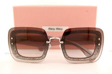 3a850bd2cfbb Brand New Miu Miu Sunglasses MU 01R 01RS UES0A7 Grey Glitter Women