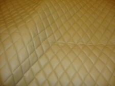 """Camel Quilted Vinyl fabric with 3/8"""" Foam Backing Upholstery fabric by the yard"""