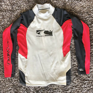 O'NEILL Men's O'Zone Long Sleeve Rashguard w pocket UPF 50 Black, Red, MED Surf