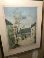 RARE VINTAGE* BERNARD CHAROY*  SIGNED AND NUMBERED LITHOGRAPH COA!