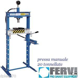 PRESSA IDRAULICA MANUALE 20 TON. FERVI P001/20