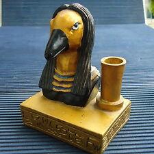 EGYPTE Oiseau Porte Stylo Socle Inscriptions Autour 8,5 x 7 x 5 Cm - 200 Grs