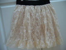 BRAND NEW BEIGE LACE SKIRT FROM KOREA SIZE  8