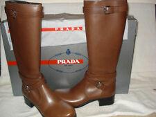100% AUTHENTIC NEW WOMEN'S PRADA NEBRASKA KNEE HIGH RIDING BOOTS US 11.5