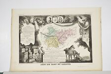 Carte Illustrée département TARN et GARONNE Levasseur Géographe vers 1860