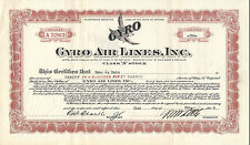 Arizona 1934, Gyro Air Lines Stock Certificate