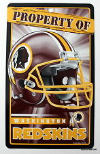 New NFL Licensed Washington Redskins Property Sign Plastic Decor Football League