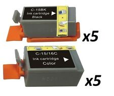 10 ip90 BCI-15BK BCI-15C for Canon Pixma selphy Ds700 ip 90 i70 80 black & color