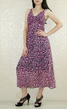 Spring Summer Wear Chic Maxi Cocktail Chiffon Dress with Lining UK size 10-12