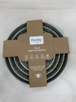 Denby New 4-piece Set Nesting Bowls Halo Speckled Oven Made In England