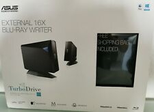 Asus, BW-16D1H-U Pro, externer Blu-Ray Brenner, 16 X, Schwarz, mit Shopping Bag!