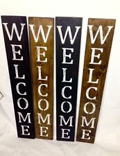 New listing Welcome Sign, Vertical welcome sign, front porch, rustic welcome sign