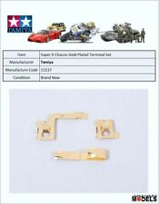 Mini 4wd SUPER X CHASSIS GOLD PLATED TERMINAL SET Tamiya 15237 New Nuovo