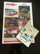 DECALS 1/24 TOYOTA COROLLA STHOL OMV RALLYE ALLEMAGNE 2001 WRC RALLY HASEGAWA