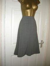 18 DAXON MIDI SKIRT PANEL GREY MARL FLARE HEM SMART CASUAL NEW