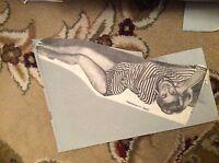 m57b ephemera 1950s picture model june cunningham actress relaxes