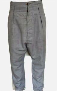 Original Vivienne Westwood Drop Crotch Samurai Trousers Sz 44 (UK 28) CLUBBING!