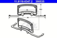 Feder, Bremssattel für Bremsanlage Vorderachse ATE 11.8116-0347.2
