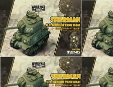 Meng Model Misc Sherman US Medium Tank M4A1 'World War To Toons' #WWT002 *NEW*