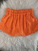 LULULEMON Skirt Skort Run Breeze By Skirt Size 4 Orange Pizazz