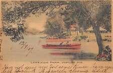 Joplin Missouri Lakeside Park Row Boat Scene Antique Postcard K13800