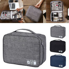 Travel Cable Organizer Bag Electronic Accessories Storage Charger USB Drive Case