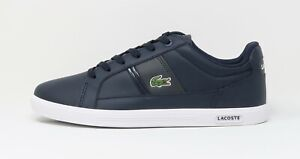 Lacoste Men's Europa LCR Synthetic Leather Shoes 7-32SPM24098F7 - Navy/White