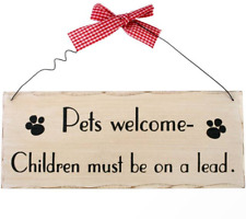 Wooden Welcome Decorative Plaques & Signs