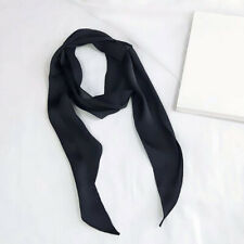 Women Ribbon Silk Neckerchief Hair Band Bag Handle Wraps Long Scarf Neck Scarves