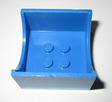 Lego Fabuland 4461 Bleu blue Container Box 4x4x2 with Hollowed-Out Semi-Circle