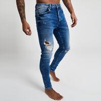 Gym King Denim Anton Jeans Rip And Repair  - Mid Wash