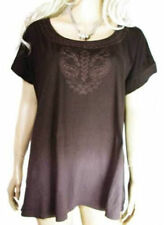 Scoop Neck Cotton Other Tops Plus Size for Women