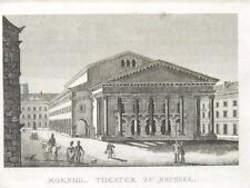 2  Orig. copperprints by Strahlheim ca. 1850 BRÜSSEL KÖNIGLICHES THEATER