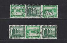 Dt.Reich W 120+122 WHW Bauwerke 1936 Zusammendruck gestempelt einwandfrei