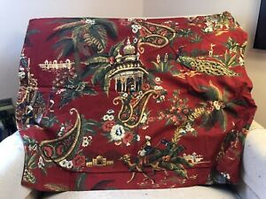 Pottery Barn Standard Pillow Sham Beautiful Red And Gold Pattern