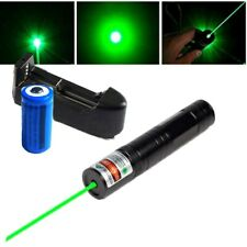 1mW 700Miles Green Laser Pointer Pen 532nm Beam Light Presenter+Battery+Charger