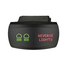 Rocker switch 626SGR 12V REVERSE LIGHTS Horizontal Laser LED green red Sierra