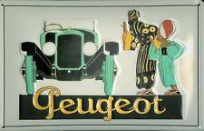 Peugeot Automobile Blechschild Schild 3D geprägt gewölbt Tin Sign 20 x 30 cm