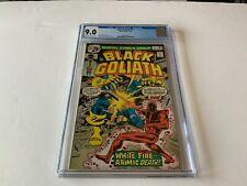 BLACK GOLIATH 2 CGC 9.0 WHITE FIRE ATOMIC DEATH MARVEL COMICS 1976