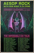 AESOP ROCK | HOMEBOY SANDMAN 2016 Ltd Ed RARE Tour Poster +FREE Hip-Hop Poster!