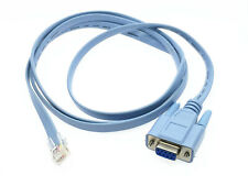 1x DB 9Pin RS232 Serial to RJ45 CAT5 Ethernet Adapter LAN Console Cable