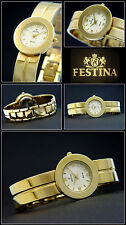 Valuable Ladies Festina watch in Gold Plaque Very Cute & Pretty NEW