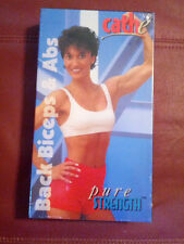 Cathe Friedrich~ Pure Strength Volume 3: Back Biceps & Abs Workout Video VHS