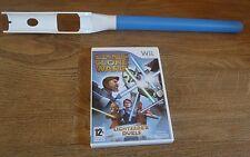 BLUE LIGHT SABER + STAR WARS THE CLONE WARS DUELS=NINTENDO Wii=LIGHTSABER