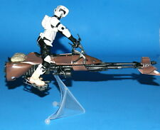 STAR WARS BLACK SERIES BIKER SCOUT & SPEEDER BIKE 6IN. LOOSE COMPLETE