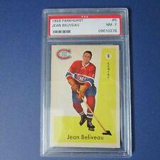 JEAN BELIVEAU  1959-60 Parkhurst  # 6 PSA  7 (NM)  Montreal Canadiens 1959 1960