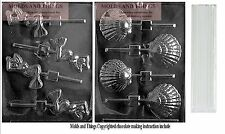 Mermaid chocolate candy mold and Shea shell chocolate candy mold