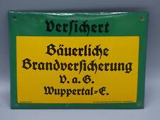 "Vintage German Porcelain ""Derfimert"" Wuppertal Fire Insurance Sign/ Wall Plaque"