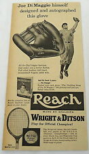 1953  JOE DiMAGGIO Spalding Reach baseball glove ad