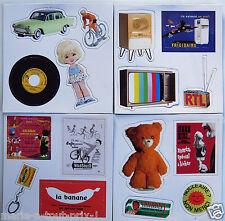lot de 16 magnet de collection introuvables ! produits années 60 et 70